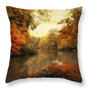 Autumn Afternoon  Throw Pillow by Jessica Jenney
