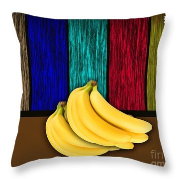 Bananas Throw Pillow by Marvin Blaine
