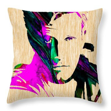 Ben Affleck Collection Throw Pillow by Marvin Blaine
