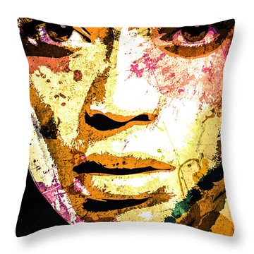 Beyonce Throw Pillow by Svelby Art