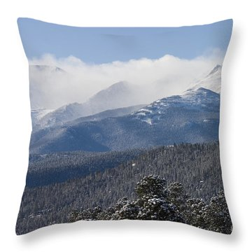 Blizzard Peak Throw Pillow