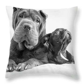 Booker And Buddy Throw Pillow