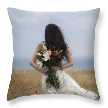 Bouquet Of Flowers Throw Pillow by Joana Kruse