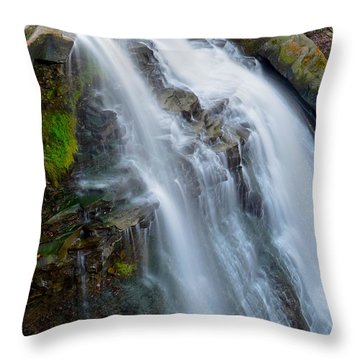Brandywine Falls Throw Pillow by Frozen in Time Fine Art Photography
