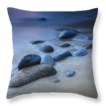 Throw Pillow featuring the photograph Campelo Beach Galicia Spain by Pablo Avanzini