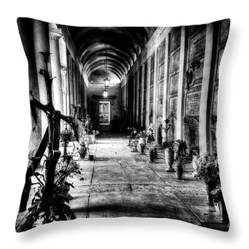 Cemetery Of Verona Throw Pillow