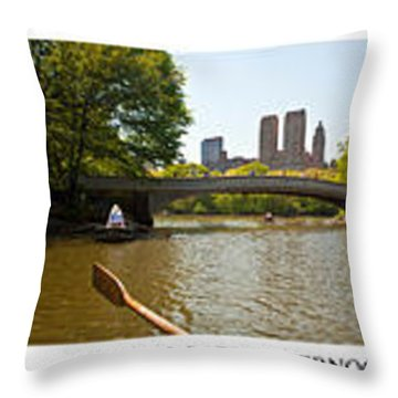 Central Park Afternoon Throw Pillow by Madeline Ellis