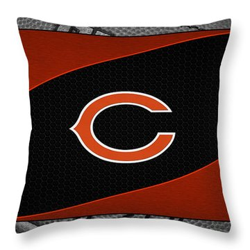 Chicago Bears Throw Pillow by Joe Hamilton