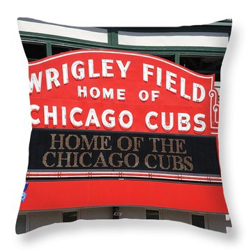 Chicago Cubs - Wrigley Field Throw Pillow by Frank Romeo