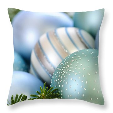 Christmas Ornaments Throw Pillow by Elena Elisseeva