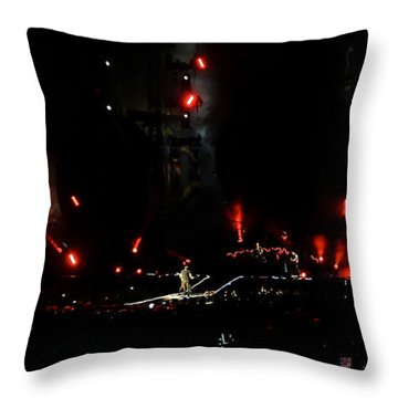Throw Pillow featuring the photograph Coldplay - Sydney 2012 by Chris Cousins