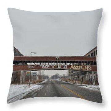 Detroit Packard Plant Throw Pillow by Randy J Heath
