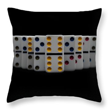 Domino's Throw Pillow by Doug Long