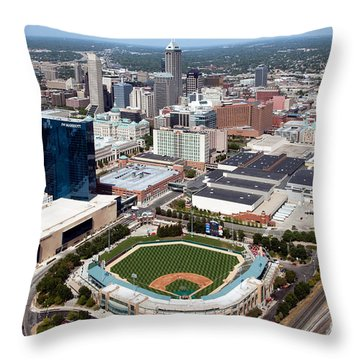 Downtown Indianpolis Indiana  Throw Pillow by Bill Cobb
