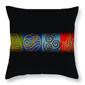 4 Elements In Cylantyca Throw Pillow