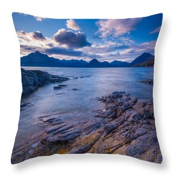 Elgol Sunset Throw Pillow by Maciej Markiewicz