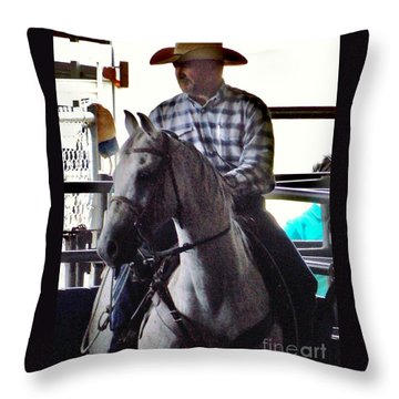 Throw Pillow featuring the photograph 4 Eyes by John Glass