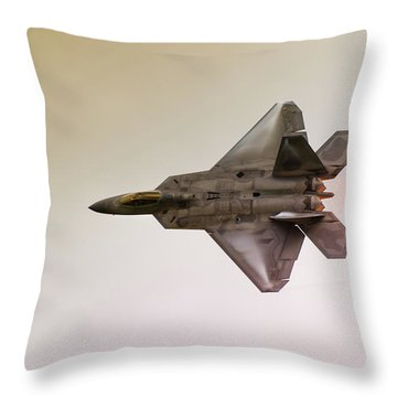 F-22 Raptor Throw Pillow