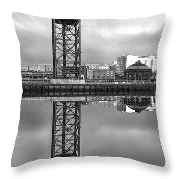 Finnieston Crane Glasgow Throw Pillow by John Farnan