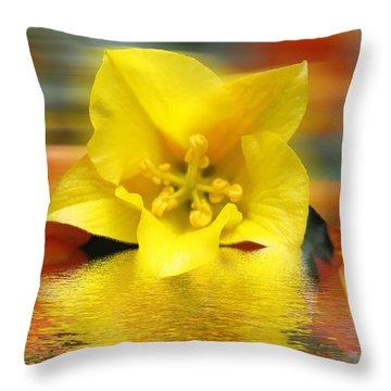 Floral Fractals And Floods Digital Art Throw Pillow