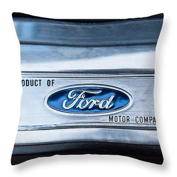 Powered By Ford Emblem -0307c Throw Pillow by Jill Reger