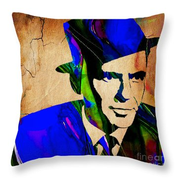 Frank Sinatra Painting Throw Pillow by Marvin Blaine