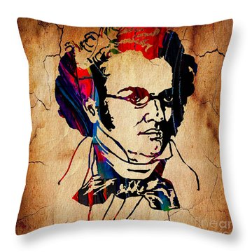 Franz Shubert Collection Throw Pillow by Marvin Blaine