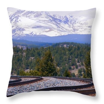 Freight On The Divide Throw Pillow