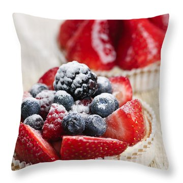 Fruit Tarts Throw Pillow by Elena Elisseeva