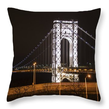 George Washington Bridge On President's Day Throw Pillow