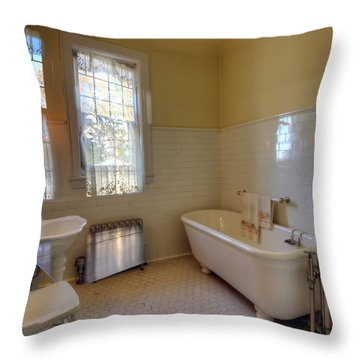 Glensheen Mansion Duluth Throw Pillow by Amanda Stadther