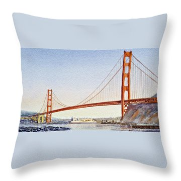 Golden Gate Bridge San Francisco Throw Pillow