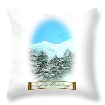 Happy Holidays. Best Christmas Gift Throw Pillow by Oksana Semenchenko