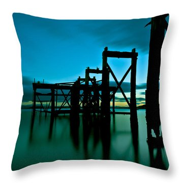 Hawcraig Pier Throw Pillow