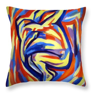 Throw Pillow featuring the painting Here by Helena Wierzbicki