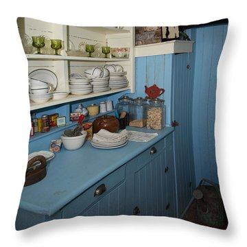 Heritage Cottage Museum On Bowen Island Throw Pillow by Carol Ailles