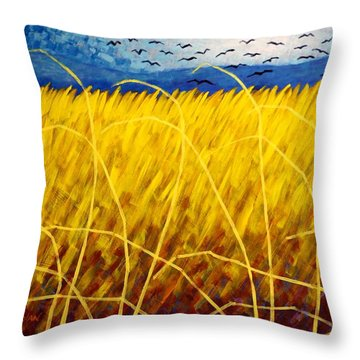 Homage To Van Gogh Throw Pillow by John  Nolan
