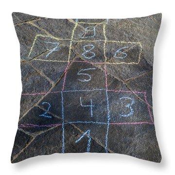Hopscotch Throw Pillow by Joana Kruse