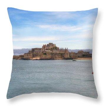 Jersey - Elizabeth Castle Throw Pillow by Joana Kruse