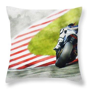Jorge Lorenzo - Team Yamaha Racing Throw Pillow