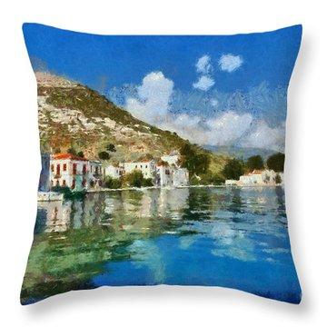 Kastellorizo Island Throw Pillow by George Atsametakis