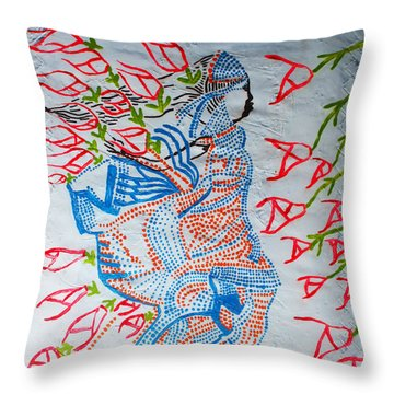 Kiganda Dance - Uganda Throw Pillow by Gloria Ssali