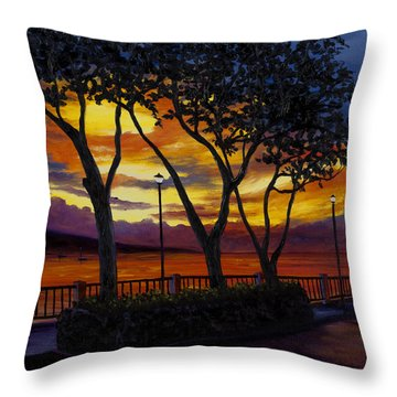 Lahaina Sunset Throw Pillow