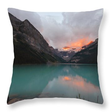 Lake Louise Sunrise Throw Pillow by Yue Wang