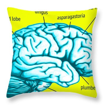 Learn About Your Brain Throw Pillow by Del Gaizo
