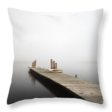 Loch Lomond Jetty Throw Pillow