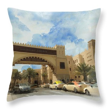 Madinat Jumeirah Throw Pillow by Catf
