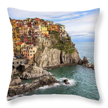 Manarola Throw Pillow by Joana Kruse