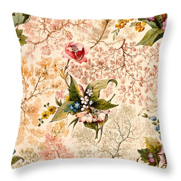 Marble End Paper Throw Pillow by William Kilburn