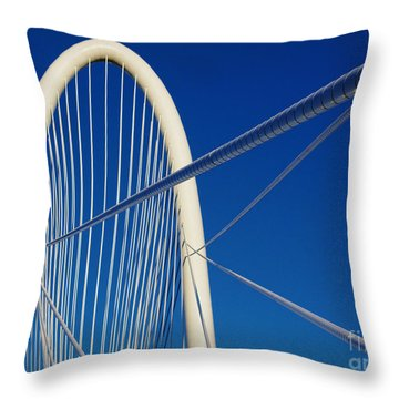 Margaret Hunt Hill Bridge Throw Pillow